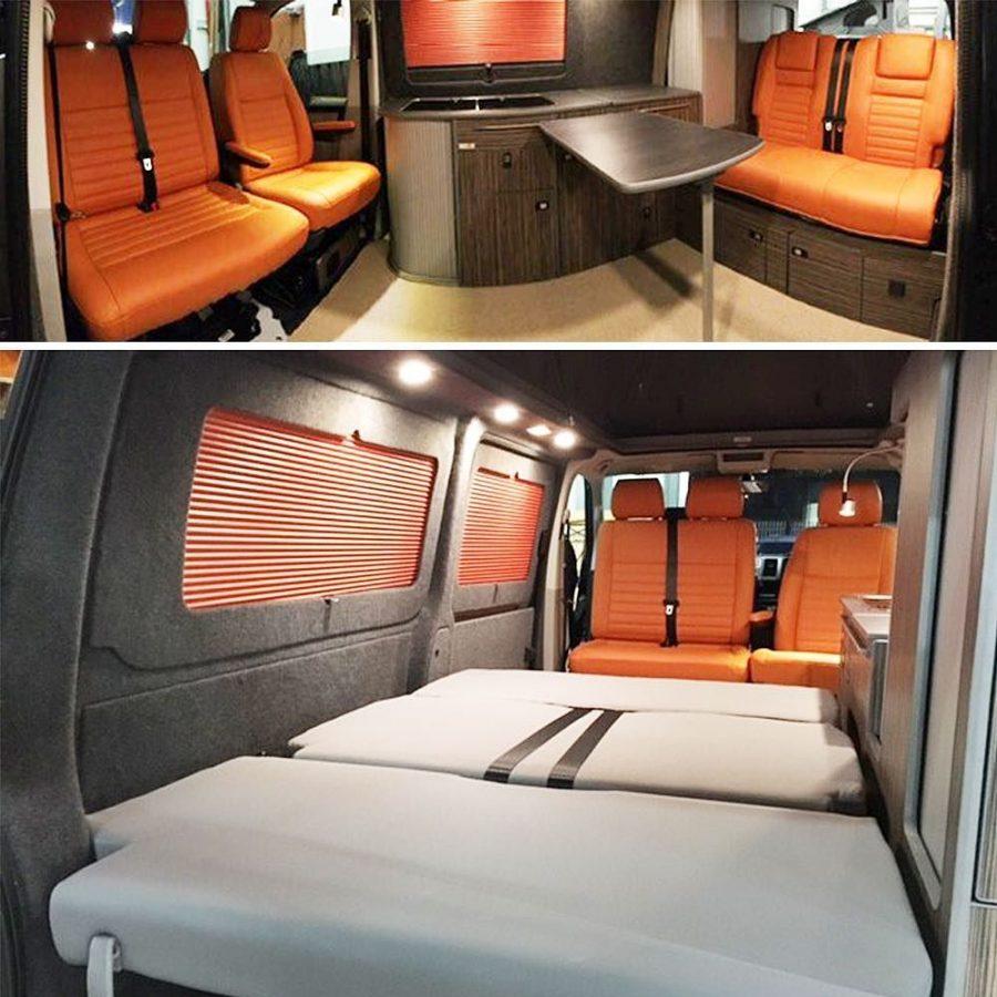 More pictures of the orange van!