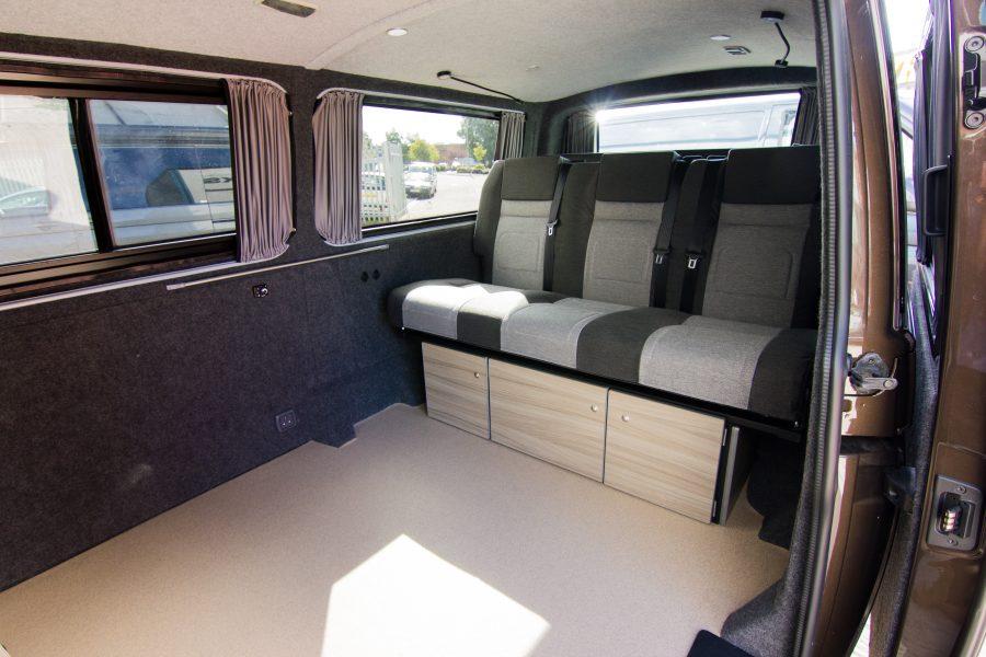 VW Van Conversion - Graphite carpet lining