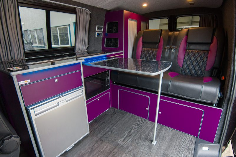 VW Van Conversion - Coastline Purple & Black