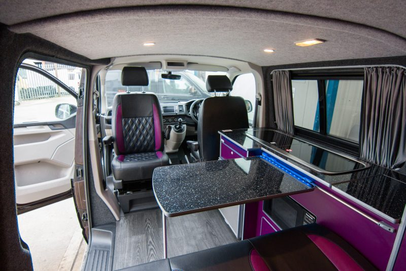 VW Conversion - Purple & Black Van